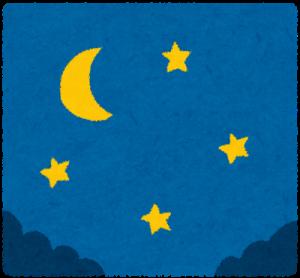 夜のウォーキング